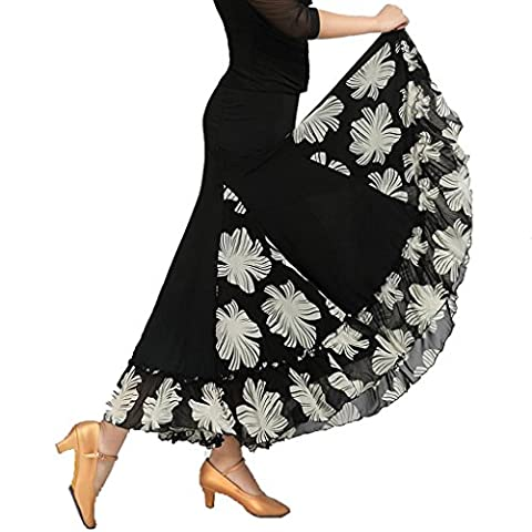 Costumes Ballroom Dancer Halloween - Wgwioo Women'S Modern Waltz Ballroom Dress Flounce