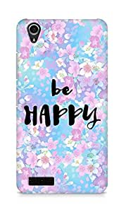 AMEZ be happy Back Cover For Lenovo A3900