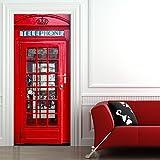 Türtapete selbstklebend TürPoster - LONDON TELEFONZELLE - Fototapete Türfolie Poster Tapete