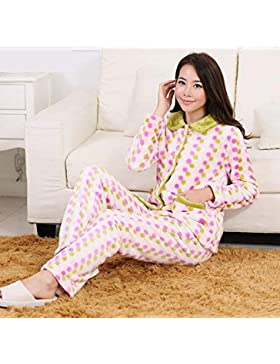 GZZ Inicio Hotel Albornoz Robe Lovers Loose Pijamas Franela Gruesa Transpirable Inicio Ropa Traje Confort Moda...