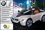 NEU Kinder Elektroauto Lizenzierter Original BMW I8 mit 2 x 45 Watt Motor Elektro Kinderauto Kinderfahrzeug (Goldmetallik)