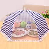 #5: HOMIZE® Pop Up Mesh Screen Food Cover Tent, Reusable and Collapsible Outdoor Food Cover, Food Protector Tent Keep Out Flies, Bugs, Mosquitoes, 35 x 35 x 18 cm, Blue