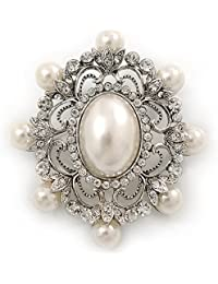 989d54ec97 Amazon.co.uk: Pearl - Brooches & Pins / Women: Jewellery