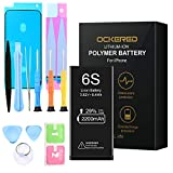 ockered Battery for IPhone 6S, original 2200 mAh high capacity spare battery with tool kit and repair kit, battery replacement manual, 2 years warranty 100%