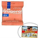 Krügerol Halsbonbons | INKL DDR Geschenkkarte | Ossi Produkte | Ideal für jedes DDR Geschenkset | DDR Traditionsprodukt und Ossi Kultprodukt | DDR Produkte
