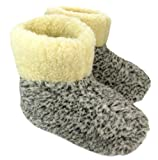 Warme Hausschuhe Hüttenschuhe aus Schafwolle Leo Gr. 42