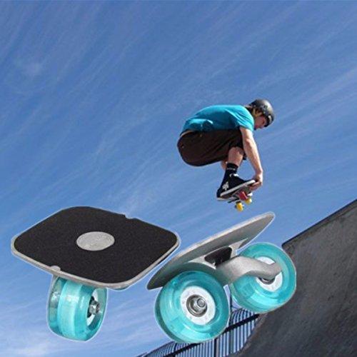CAMTOA Portatile Rullo Drift Skate Plates Antiscivolo Bordo di Alluminio Deriva Pattini Skates Freeline Skates Inline Cuscinetti e Ruote & Chiave