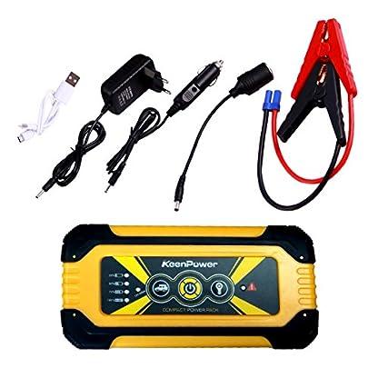 51DPjdYS%2BfL. SS416  - Keenpower Car Jump Starter 12V Car-Stlying Dispositivo de inicio Cargador Car Battery Booster Buster