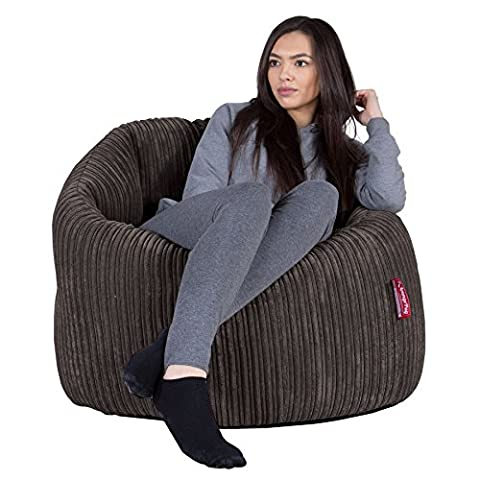LOUNGE PUG - CORD - LUXURY Adult Bean Bag Chair - Beanbags - Cuddle Up - GRAPHITE GREY