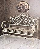 PALAZZO INT Vintage Gartenbank Shabby Chic Bank Weiss Sitzbank Garten