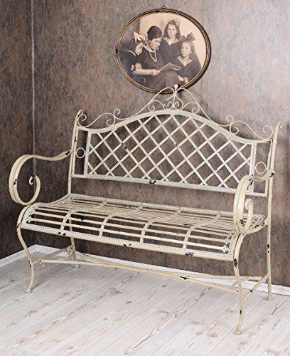 Vintage Gartenbank Shabby Chic Bank Weiss Sitzbank