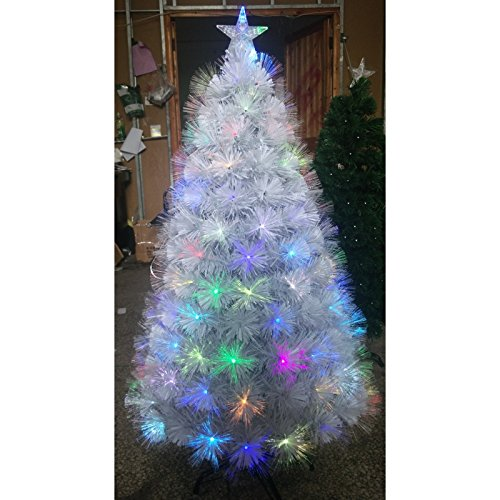Albero di Natale in fibra ottica Bouquet Alt. 120 cm