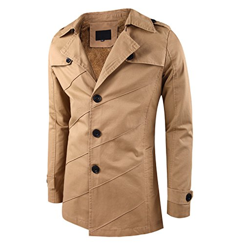 Miagolio uomo signori ragazzi cappotto trench giacca da vento a manica lunga(vari colori/taglie,2 stili)