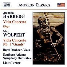 Amanda Harberg : Concerto pour alto et orchestre - Elégie - Max Wolpert : Concerto pour alto n° 1 « Giants »