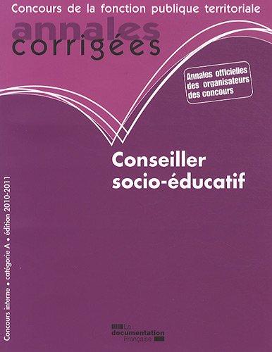 Conseiller socio-éducatif 2010-2011