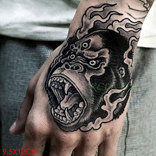 5 stücke Wasserdichte tatoo Tattoo Aufkleber Wütend Orang-Utan Affe Gefälschte Tatto Flash Tatoo Handrücken Fuß Tatouage für Mädchen Frauen Männer
