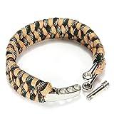 Dcolor 7 Strand Survival-Militaer Weave Armband-Schnur Schnalle - Khaki