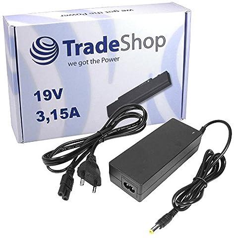 Notebook Laptop Netzteil Ladegerät Ladekabel Adapter 19V 3,15A 60W inkl. Stromkabel für SAMSUNG R500 R700 R-20 R-40 R-45 R-50 R-55 R-65 R-70 R-310 R-510 R-710 SA11 R-500 R-700 V20 V-20 XVC 2000