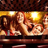Carta da parati 3DKTV murale bar rivestimento murale discoteca discoteca sexy bellezza luogo di intrattenimento soffitto box Carta Da Parati moderna 3D Fotomurali spiaggia-250cm×170cm