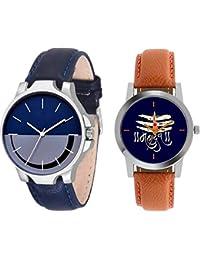 The Shopoholic Combo Latest Fashionable Blue Mahadev Dial Analog Watch For Boys -Combo Watch Child
