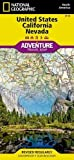 United States, California and Nevada (National Geographic Adventure Travel Map)