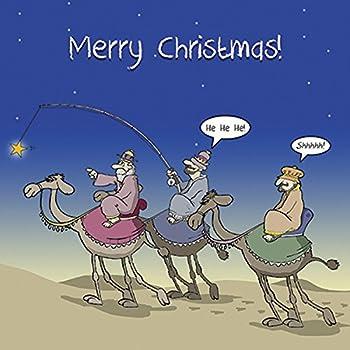 Biglietti Di Natale Spiritosi.Twizler Merry Christmas Card Con I Tre Re Magi Betlemme Stella E