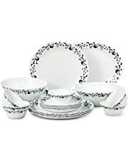 Cello Imperial Sky Fall Opalware Dinner Set, White