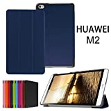 Huawei MediaPad M2 8.0 Case,Xindayi Ultra Slim Tri-Fold Leather Case Stand Cover for 8' Huawei MediaPad M2 Tablet PC (M2 8.0 Tri-Fold, dark blue)