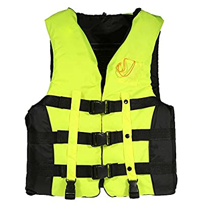 Docooler Adult Life Jacket Aid Buoyancy Vest Swimming Buoyancy Aids Sailing Life Vest with Whistle L-2XL by Docooler