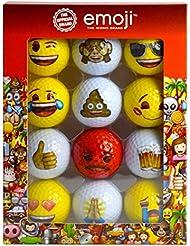 Emoji Unisex oficial de la novedad divertido pelotas de golf, rojo