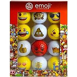 Emoji Pelotas de Gold Divertidas, emoticones, Unisex, Rojas, en pquete de 12