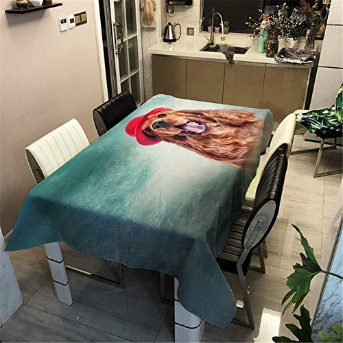 SONGHJ Polyester Baumwolle Hund Gedruckt Tischdecke Festliche Dekoration Tischdecke Hause wasserdichte Rechteck Tischdecke E 60x60cm / 24x24in (Cupcake Mädchen Hunde Kostüm)