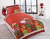 Christmas Presents Set con Copripiumino e Federa, Set copriletto, Regalo di Natale per Ragazzi, Babbo Natale, Multi-Colour, Singolo
