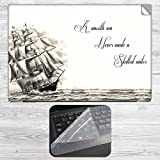 Skilled Sailor Quote Laptop Skin + Silic...