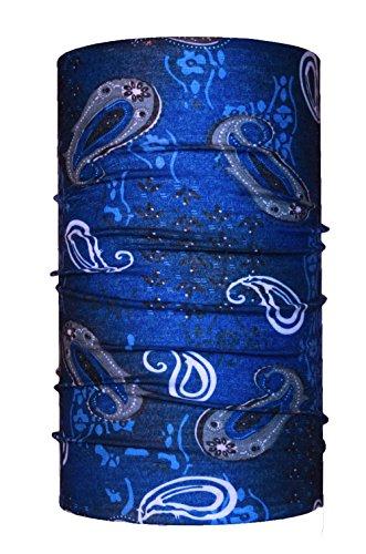 HeadLOOP Multifunktionstuch blau Loop Schlauchtuch Schal Halstuch Kopftuch Microfaser