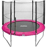 Salta Trampolin rund pink 251 cm Gartentrampolin mit Sicherheitsnetz