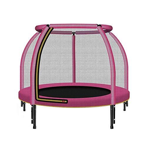 DUXX - Mini-Trampolin, Haushalts-Kinder-Sprungbett Mit Schutznetz, Kleines Outdoor-Trampolin (Farbe: Pink) Innentrampolin