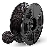 Enotepad PLA 3D Printer Filament,PLA Filament 1.75mm,Dimensional Accuracy 1.75±0.02 mm,Black PLA 1KG Spool