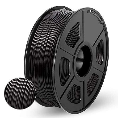Filamento PLA,Impresora 3D Filamento,Materiales de Impresión 3D de Filamento,PLA 1.75mm,Precisión Dimensional +/-0.02 mm Filamento for Pluma 3D/Impresora 3D,1 KG(2.2LBs)/Carrete,Enotepad Negro PLA