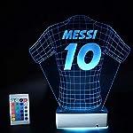 Futbol Sevenlere Hediye Tasarım 3D İlizyon Led Forma Gece Lambası
