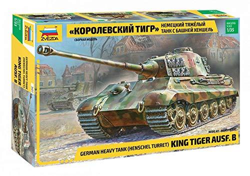Zvezda Rey Tiger Ausf. B Henschel Torreta Alemán