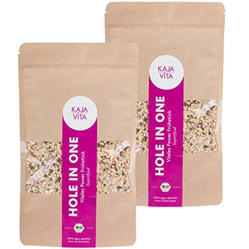 Bio-Porridge-mit-Chia-Msli-HOLE-IN-ONE-2x-325g-glutenfrei-ohne-Zucker-vegan-Superfood-inkl-Aronia-Goji-Amaranth