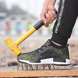 51DPuol664L. SS300  - COOU Zapatos de Seguridad Comodo Hombre Mujer con Puntera de Acero S3 Calzado de Trabajo Botas de Trabajo de Seguridad