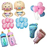 Theme My Party Baby Shower Balloon for Decoration (Mix Colour) - Pack of 2