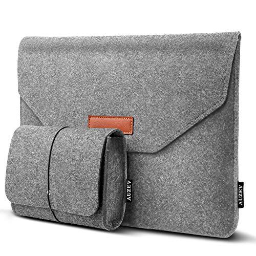"""Auzev 13-13,3 Zoll Laptoptasche mit extra Aufbewahrungsbox, 13,3 Zoll Filz Sleeve Hülle Ultrabook Laptop Tasche für 13\"""" MacBook Pro 2016/2017/2018, 13\"""" MacBook Air 2018, iPad Pro 12.9 Tasche"""
