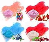 Produkt-Bild: Aromazucker für bunte Zuckerwatte 4x250g mit Geschmack   Bubble Gum - Rosa, Erdbeer - Rot, Heidelbeere - Blau, Kirsche - Rot   Farbaromazucker und Dekorzucker für Zuckerwattemachinen