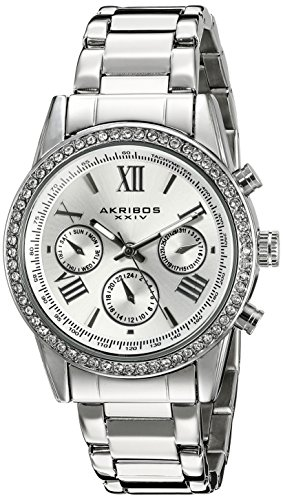 akribos-xxiv-ak872ss-orologio-da-polso-al-quarzo-analogico-donna-acciaio-inossidabile-argento