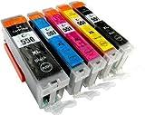 5 YouPrint® Druckerpatronen kompatibel zu CLI-551 PGI-550 mit Chip: je 1 x PGI-550PGBK XL, CLI-551BK XL, CLI-551C XL, CLI-551M XL, CLI-551Y XL für Canon Pixma iP7200, iP7250, iP8750, iX6850, MG5450, MG5550, MG5650, MG5655, MG6350, MG6450, MG6650, MG7100, MG7150, MG7550, MX725, MX925, iP7200, iP7250, iP8750, iX6850, MG5450, MG5550, MG5650, MG5655, MG6350, MG6450, MG6650, MG7100, MG7150, MG7550, MX725, MX925