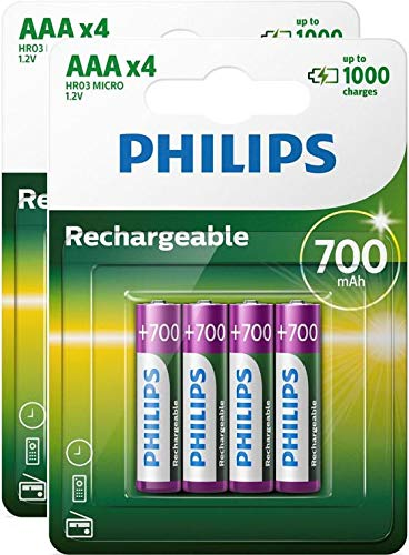 Philips Multi Life NiMH Akku AAA Micro 700 mAh 8er Pack Philips Telefon-telefon