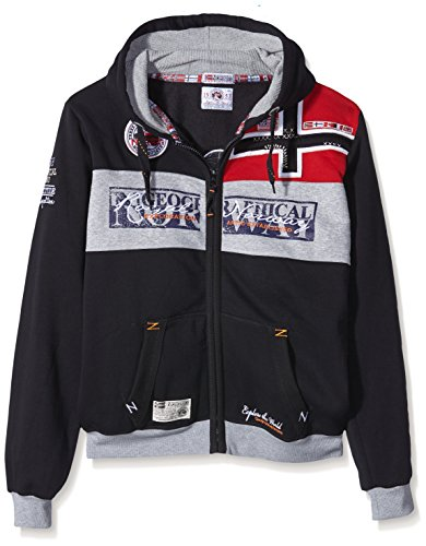 Geographical Norway Herren Hoodie Jacke Flyer Schwarz